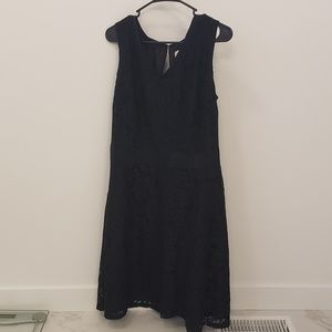Merona Black Floral Lace Dress
